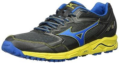 new concept cd8f7 78e66 Mizuno Men s Wave Daichi 2 Running Shoes, Castlerock Directoire  Blue Blazing Yellow,