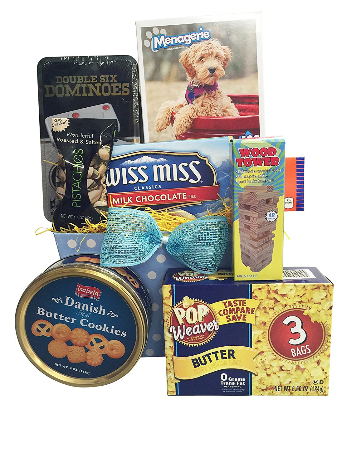 Amazon Fun Family Movie Night Easter Gift Baskets Puzzel Games Snack Gourmet Candy Gifts Grocery Food