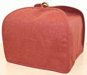 The Curtain Shop America at Home 4 Slice Toaster Cover Red