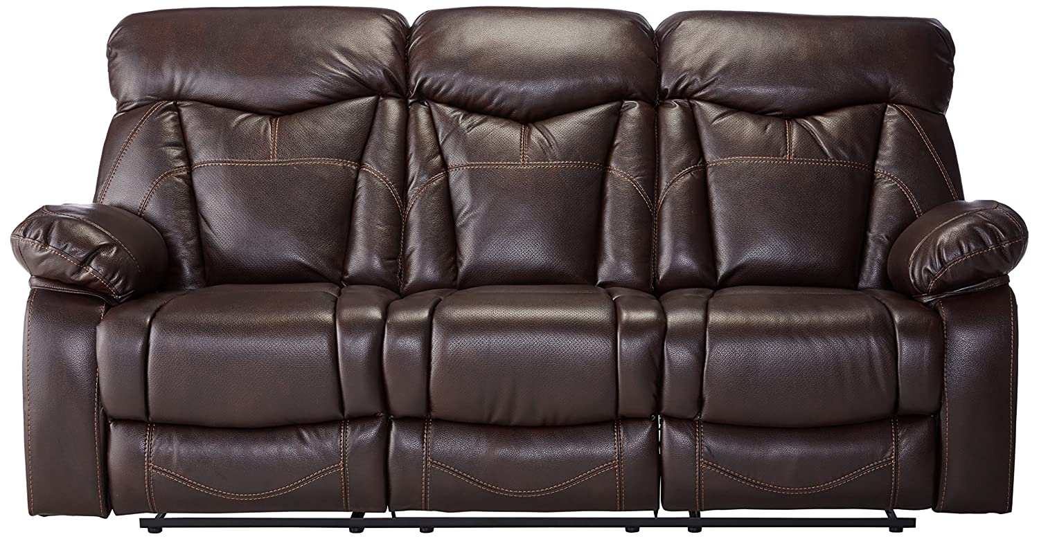 Coaster Home Furnishings Motion Sofa in Dark Brown