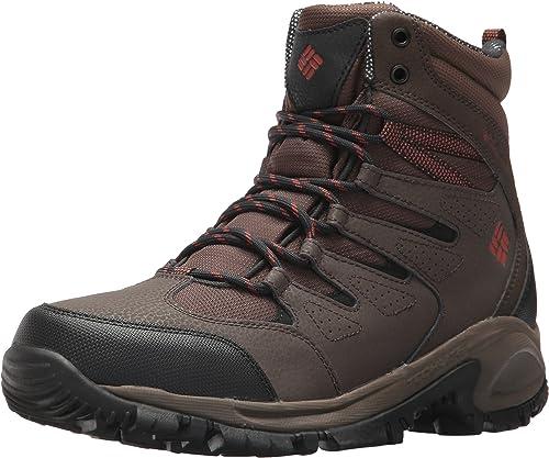 Columbia Men's Gunnison Omni-Heat Hiking Shoe, Cordovan, Sanguine, 7.5 D US