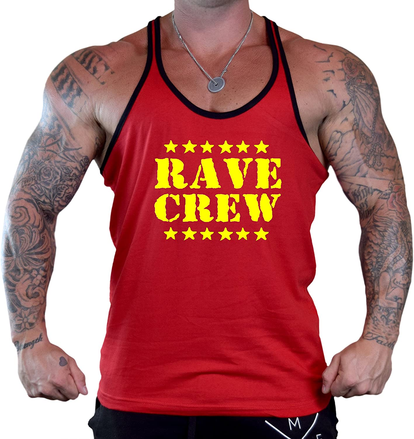 Mens Rave Crew V420 Tee Red Stringer Tank Top