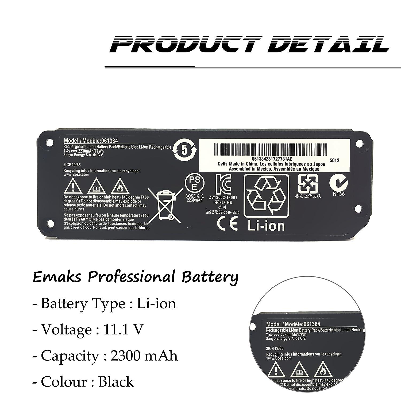 Emaks 061385 Battery 061384 061386 063404 063287 for Bose Soundlink Mini I  one/Bose SoundLink Mini Bluetooth Speaker one/Bose SoundLink Mini Bluetooth