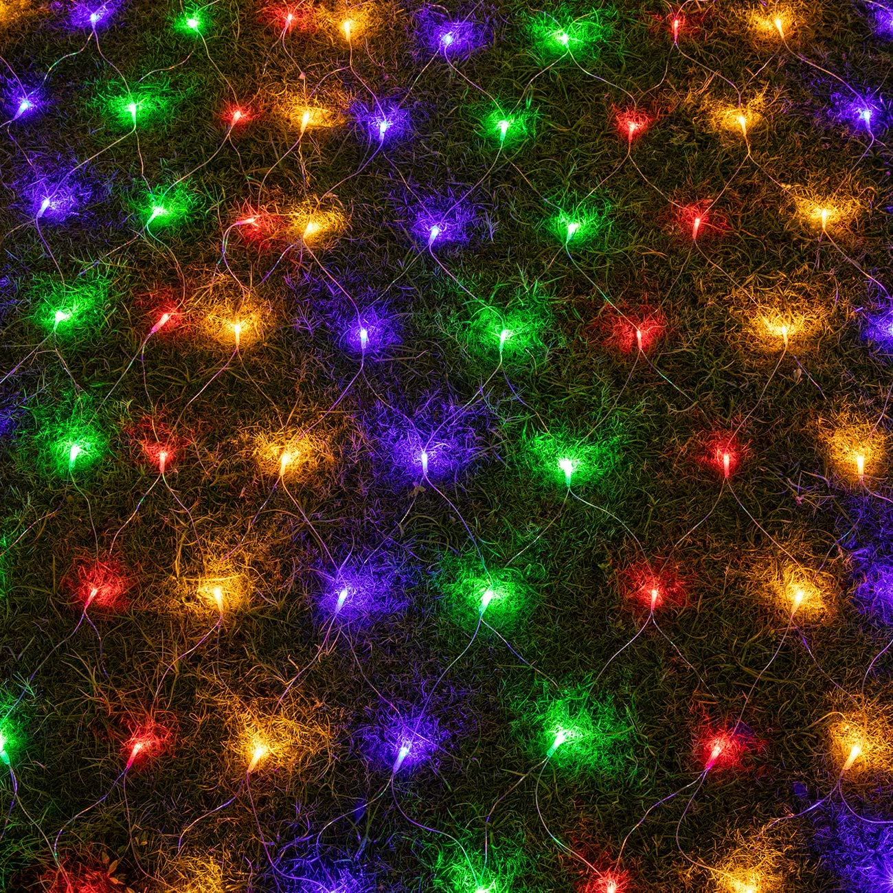 AWQ 200 LED 9.8ft x 6.6ft String Lights Net Mesh Lights Christmas Net Lights 8 Modes for Christmas Wedding Party Home Garden Lawn Bushes Bedroom Indoor Outdoor Decor (Multicolor)
