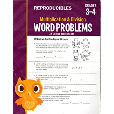 Teaching Tree Multiplication and Division - Word Problems Reproducible Educational Workbook - Grades 3-4: Toys & Games [5Bkhe2001340]