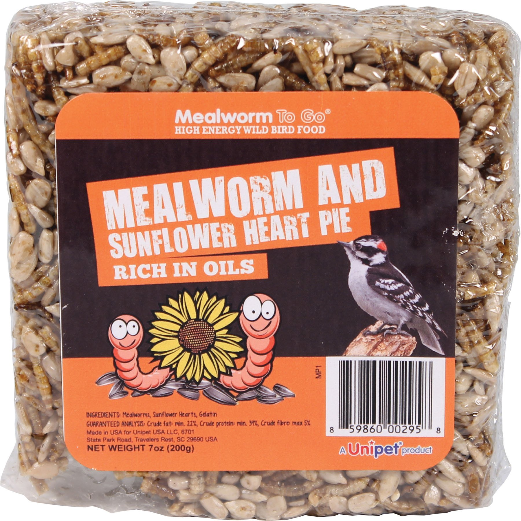 Mealworm To Go Mealworm And Sunflower Heart Pie