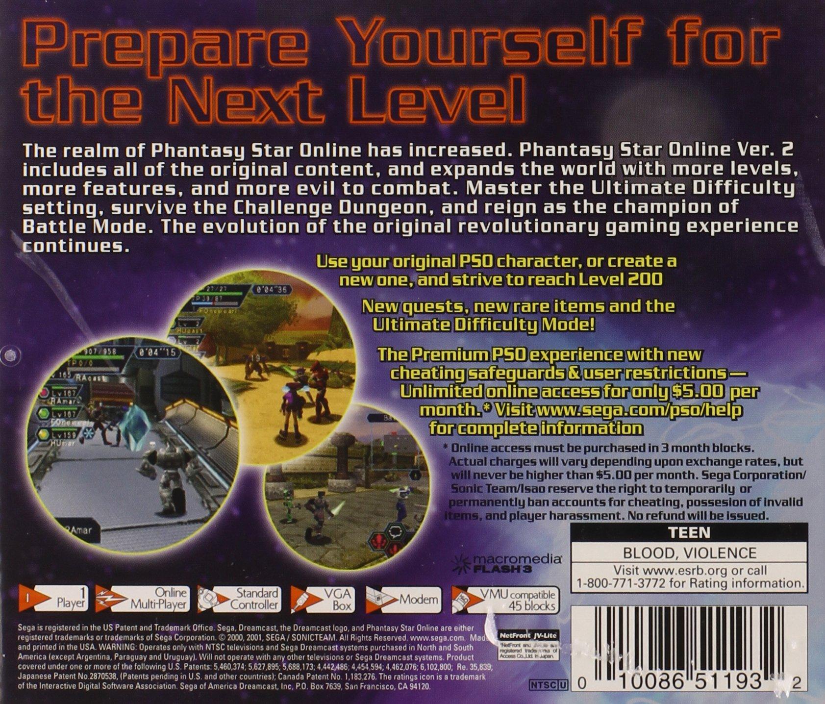 Phantasy Star Online Version 2 - Sega Dreamcast by Sega (Image #2)
