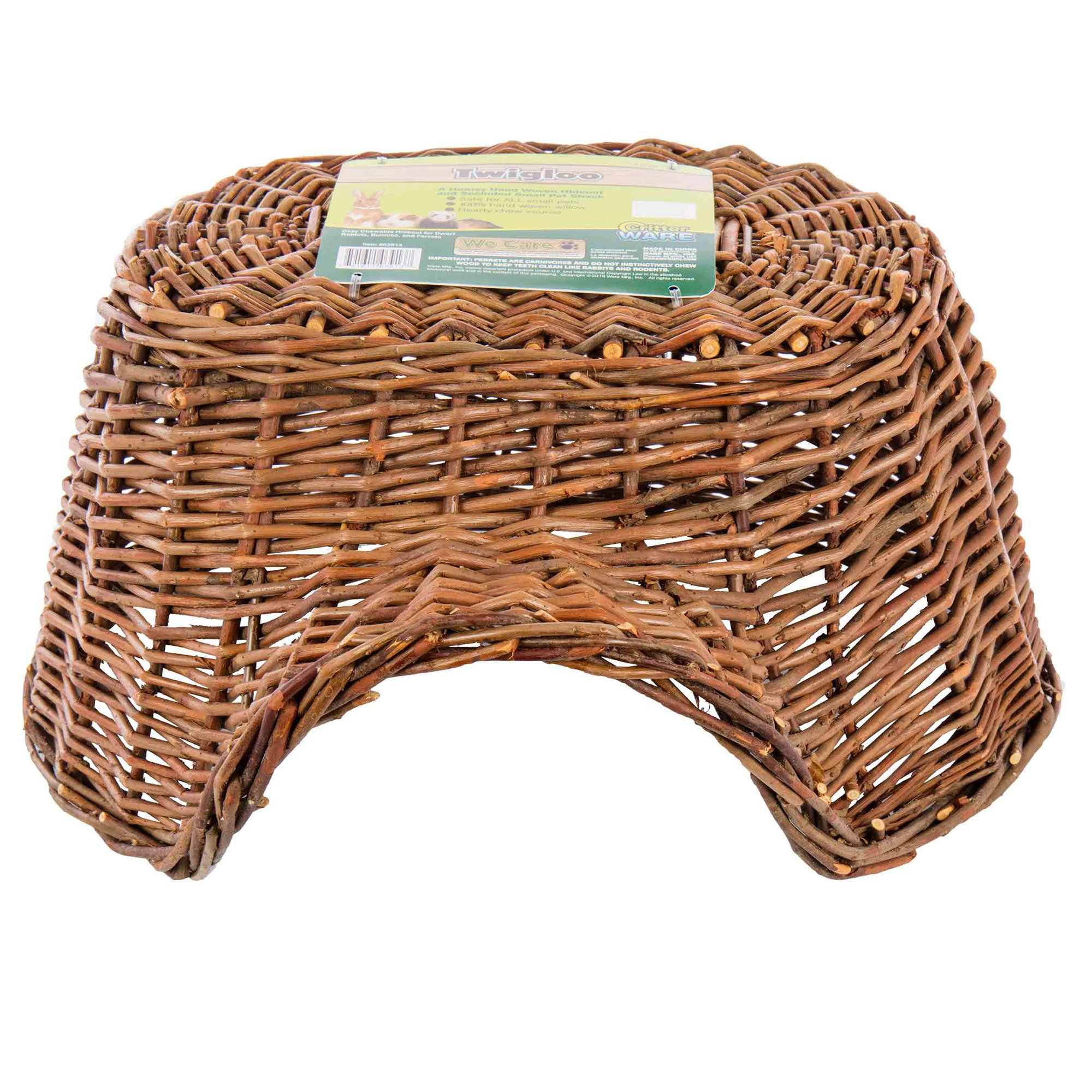 Ware Manufacturing Hand Woven Willow Twigloo Small Pet Hideout, Large