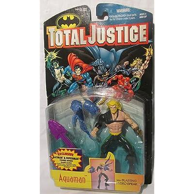 TOTAL JUSTICE LEAGUE BATMAN:AQUAMAN ACTION FIGURE: Toys & Games