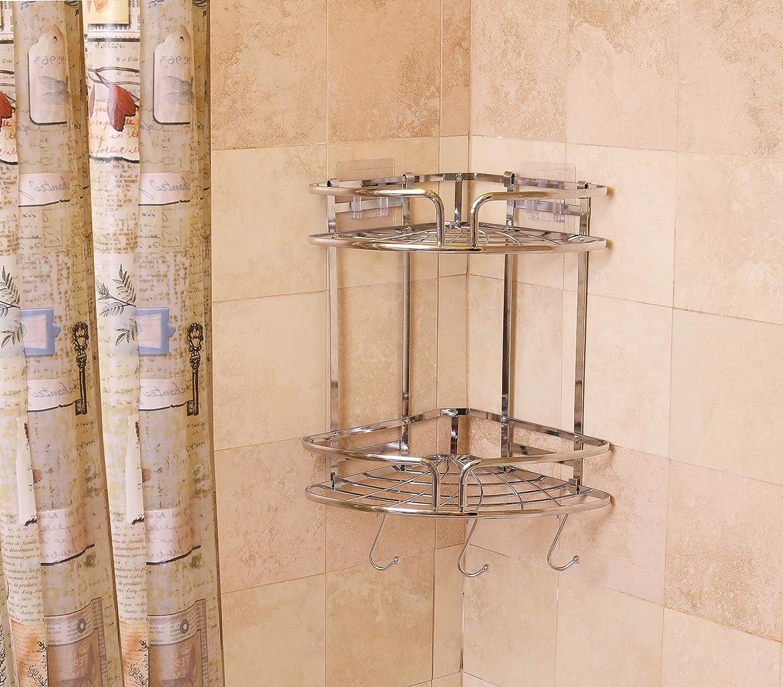 Simple Houseware Bathroom Shower Caddy Adhesive Corner Shelves