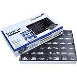 Legamaster 7-605200 Rillentafel-Buchstaben im Kasten, 560 Stück, 20 mm, weiß
