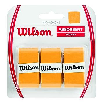 Wilson Griffbänder Pro Soft Overgrip 3 Pack - Mango de raqueta de tenis (pack de 3), color amarillo: Amazon.es: Deportes y aire libre