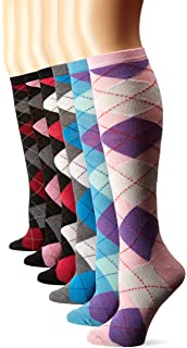 9984d4c06a0 Amazon.com  6 Pairs Christmas Holiday Knee High Socks