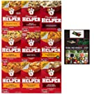 Hamburger Helper Variety Pack of 9-Crunchy Taco, Philly Cheesesteak, Stroganoff, Cheesy Hashbrowns,Beef Pasta, Double Cheeseburger Mac, Cheesy Ranch Burger, 4 Chs Lasagna (Enhanced 9 Pack with BONUS!)