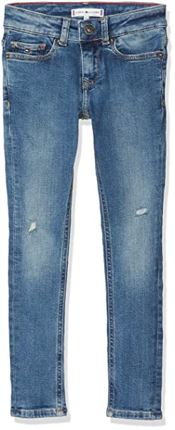 6d6e1f69 Tommy Hilfiger Girl's Nora Skinny Ablst Jeans, Blue (Authentic Stretch  911), 140
