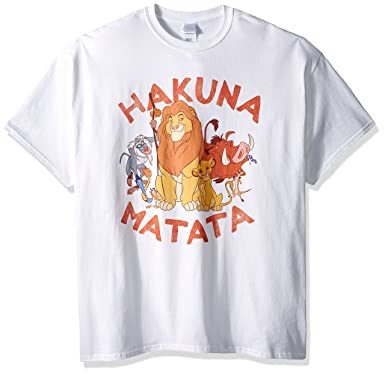 12578924 Amazon.com: Disney Men's Hakuna Matata Group T-Shirt: Clothing