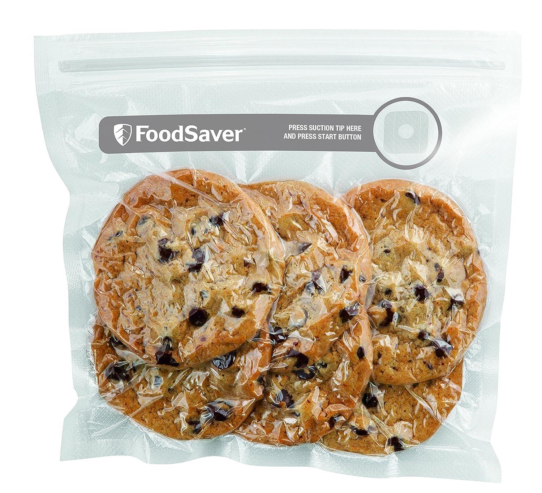 Foodsaver FVB015X - Bolsas para envasador al vacío con cierre tipo zip, color transparente [Clase de eficiencia energética A]