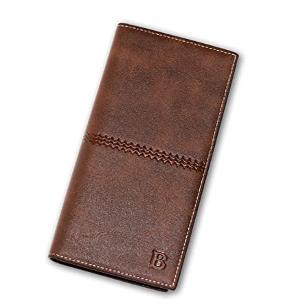 77d80345f541 Amazon.com  NEW Men s Leather Bifold ID Card Holder Long Wallet Purse  Checkbook Clutch Billfold  Everything Else