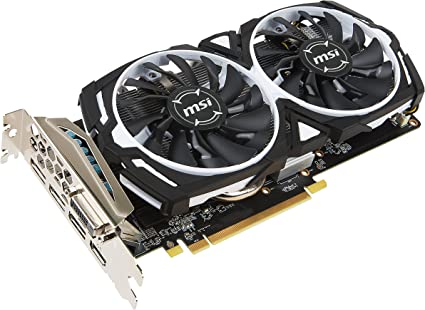 MSI Gaming Radeon RX 570 256-bit 4GB GDRR5 DirectX 12 VR Ready CFX Graphcis Card (RX 570 ARMOR 4G OC)