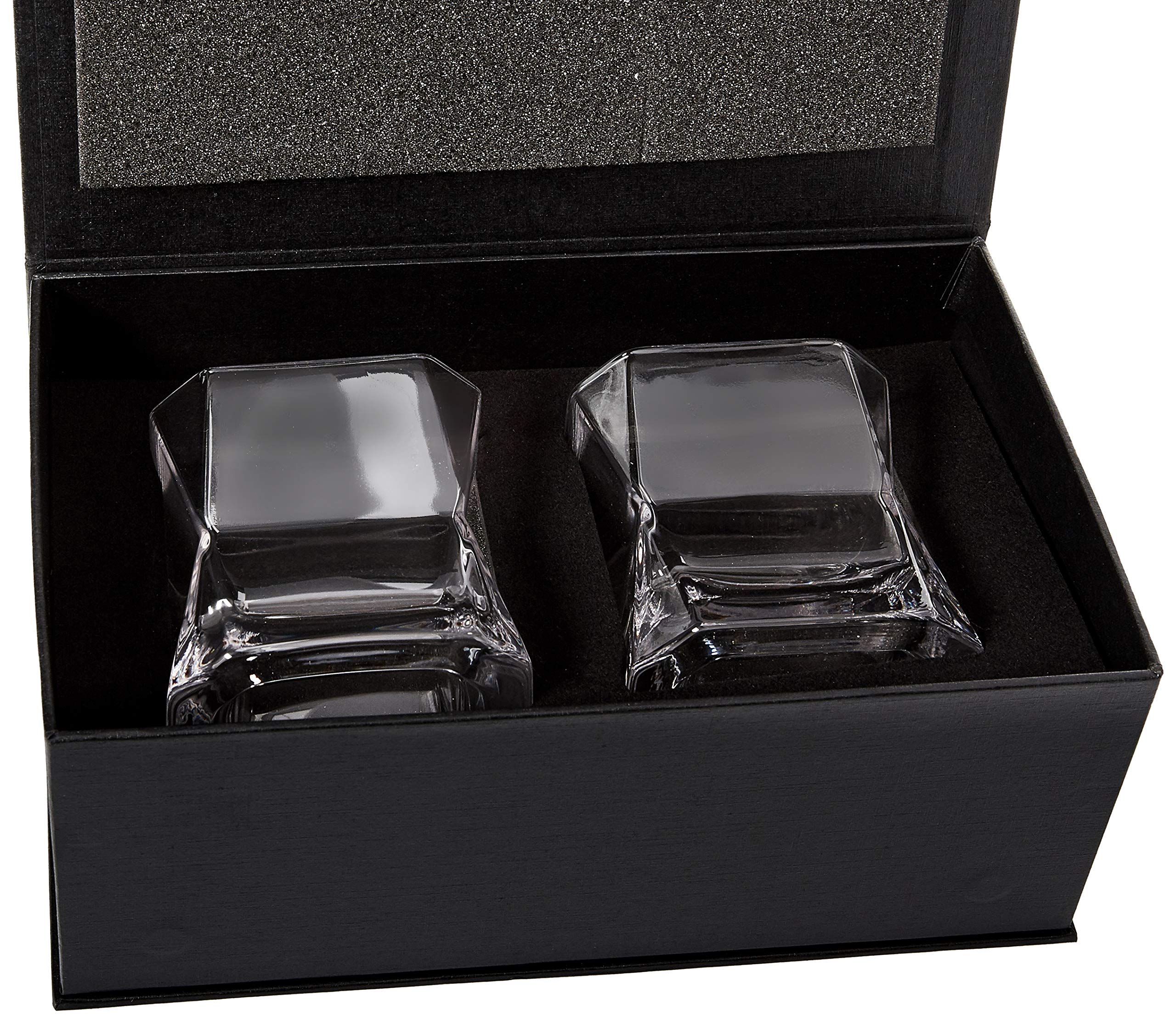 Solera''New'' Fashioned Whiskey Glasses 10 oz. | Set of Two | Lead-Free Crystal Glasses