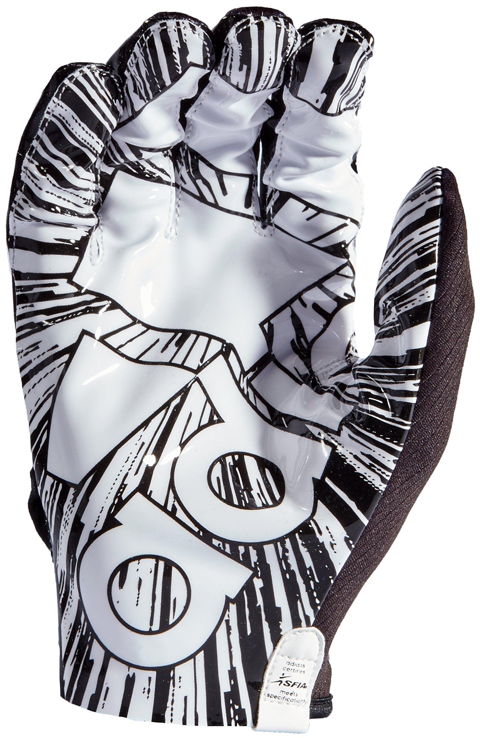 adidas AF1000 Adizero 7.0 Receiver's Gloves, Black, Medium by adidas (Image #2)