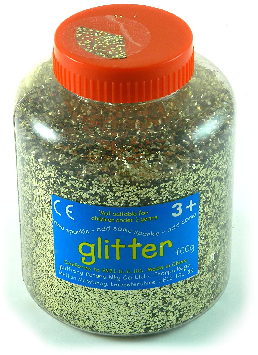 Gold Art and Craft Glitter - 400g Tub Anthony Peters