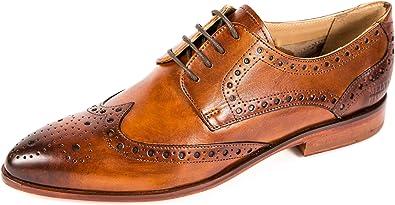 Melvin & Hamilton Zapatos de Cordones de Piel Lisa para