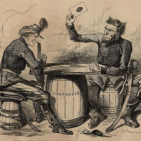 Amazon Com Abraham Lincoln Political Cartoon 1862 Civil War Card