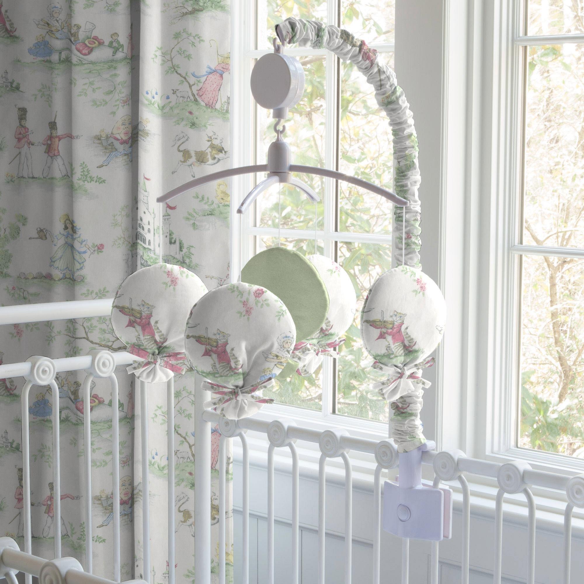 Carousel Designs Nursery Rhyme Toile Sage Mobile