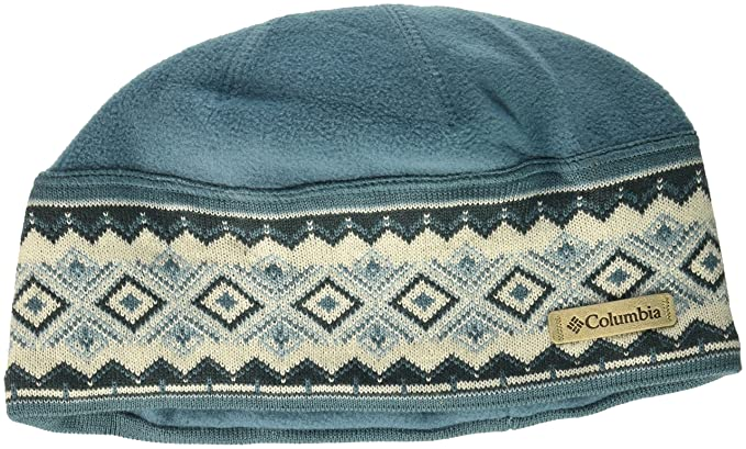 ca38da7e90a8af Columbia Men's Alpine Pass Beanie, Cloudburst Diamond, One Size at ...