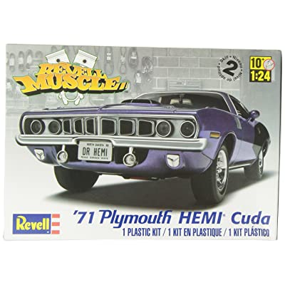 Revell/Monogram '71 Plymouth Hemi Cuda Kit: Toys & Games