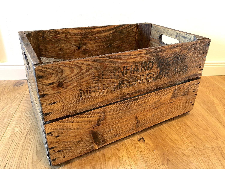 Rarität: Wunderschöne, antike und liebevoll aufbereitete, geölte & gewachste alte Obstkiste/Apfelkiste/Birnenkiste aus Holz aus dem Alten Land als Deko/Zeitungsständer/Aufbewahrung/Regal etc.