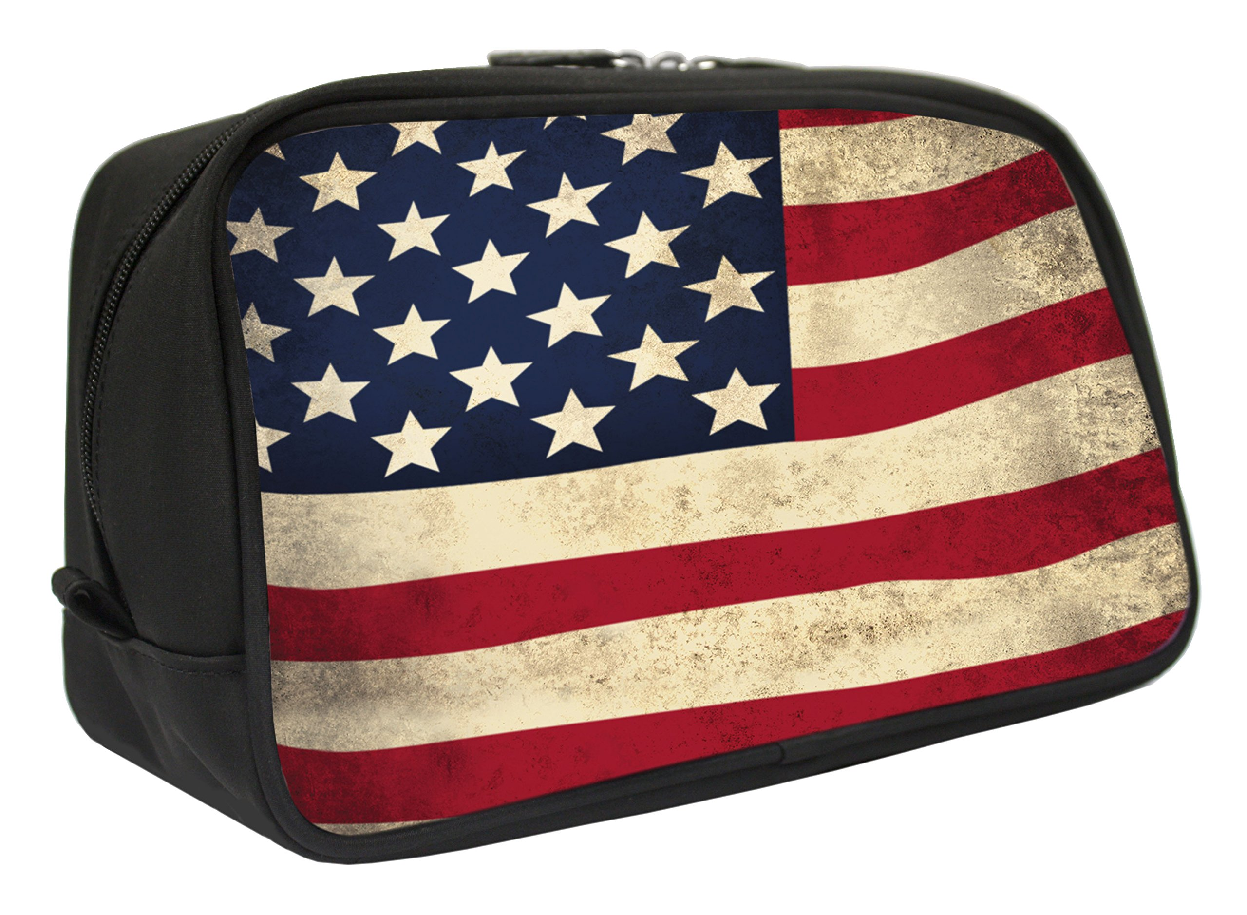 Snaptotes American Flag Design Travel Toiletry Bag Shaving Dopp Kit