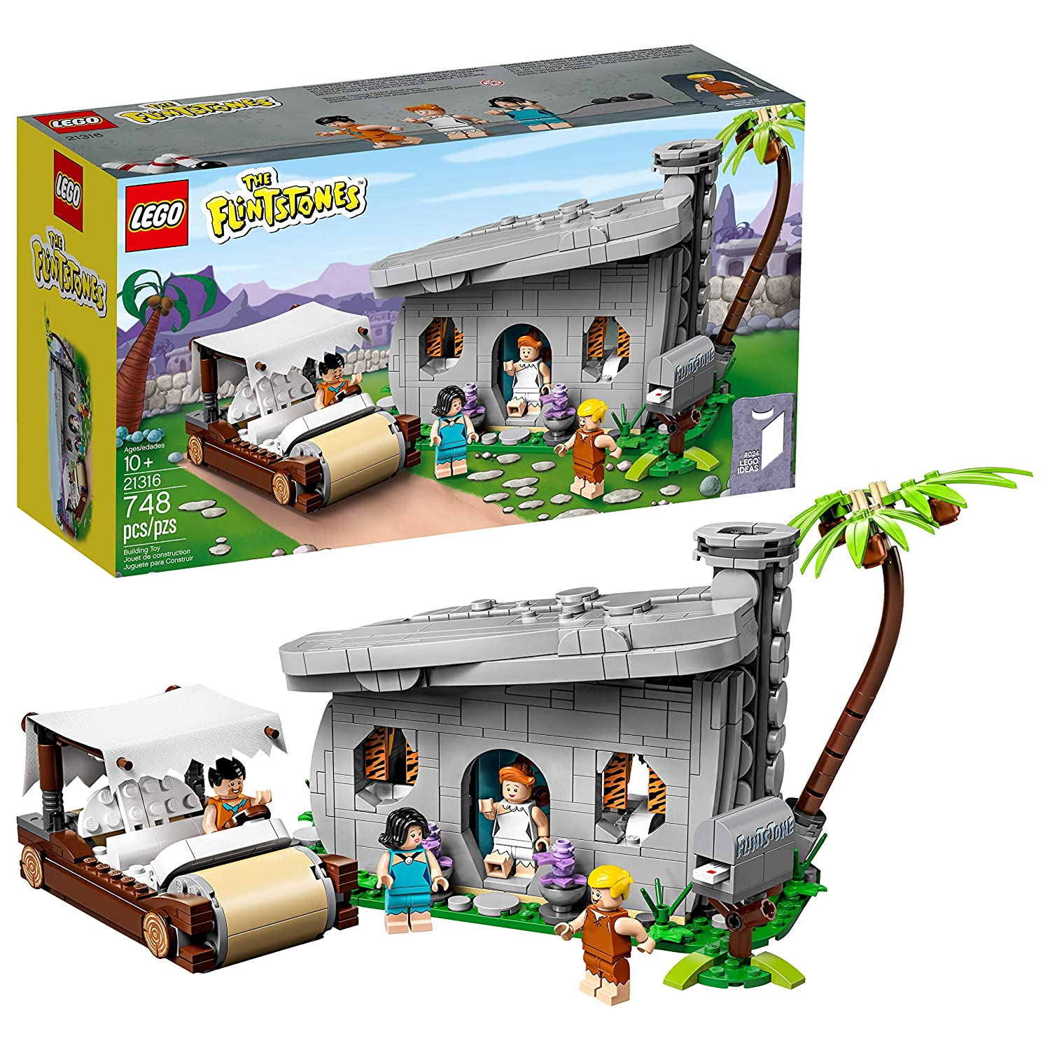 LEGO Ideas 21316 The Flintstones Building Kit, New 2019 (748 Pieces)