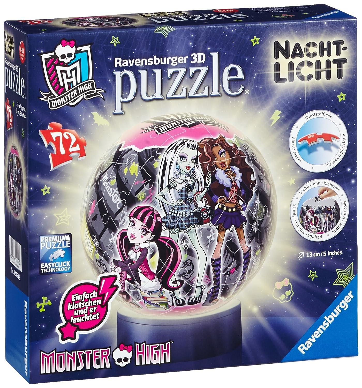 Ravensburger 12150 - Monster High - Nachtlicht puzzleball, 72 Teile