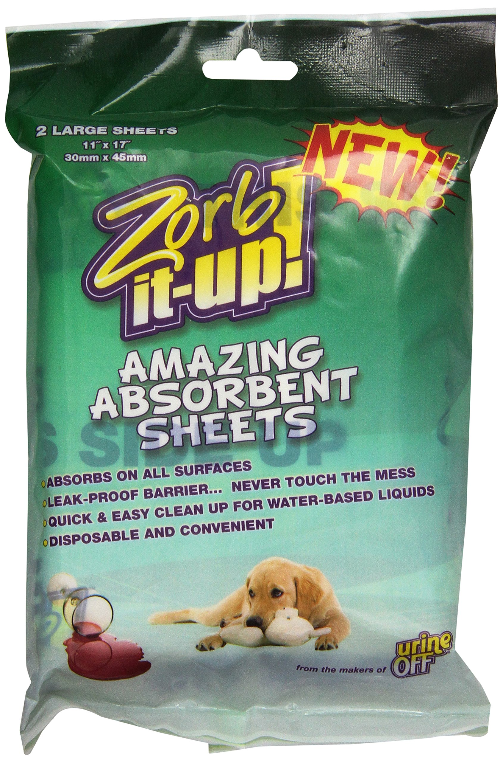 Urine Off DUOJS1106 2 Count Zorbitup Sheets for Pet Odor