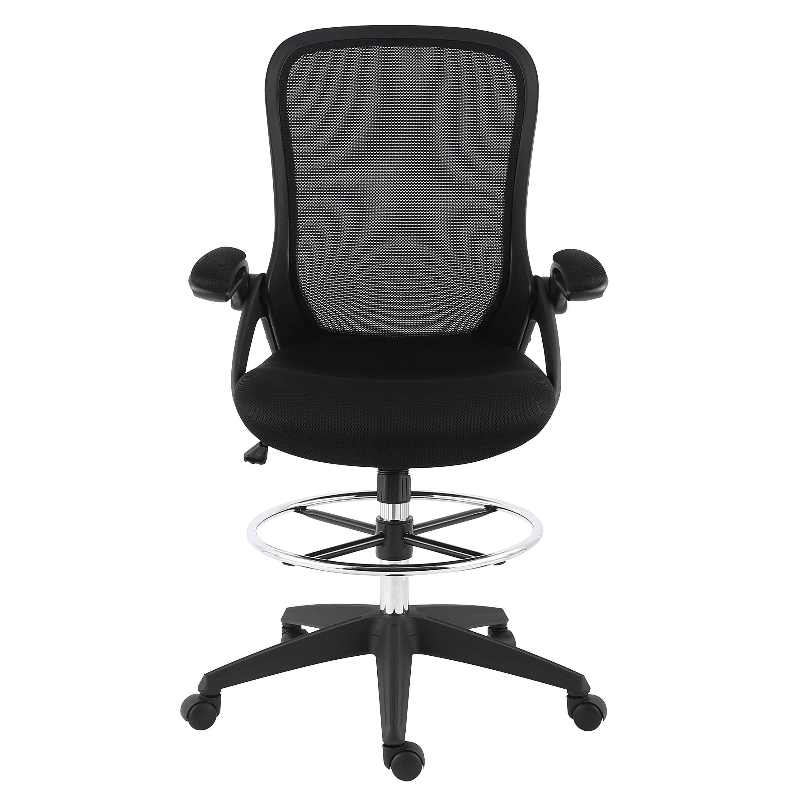 Poly and Bark Sadia Mesh Ergonomic Drafting Tall Office Chair Stool in Black by POLY & BARK (Image #2)