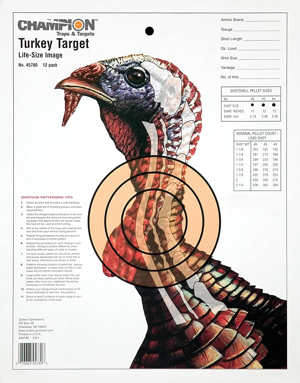 image relating to Printable Turkey Head Target identify Winner Sight-Inside Lifetime-sizing Turkey Paper Aim (Pack of 12