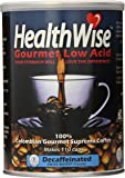 Healthwise Low Acid Columbian Gourmet Supremo Coffee, 12 Ounce (Decaffeinated)