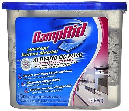 DampRid Fg118 18 Oz humedad absorbedor con carbón activado paquete de 2
