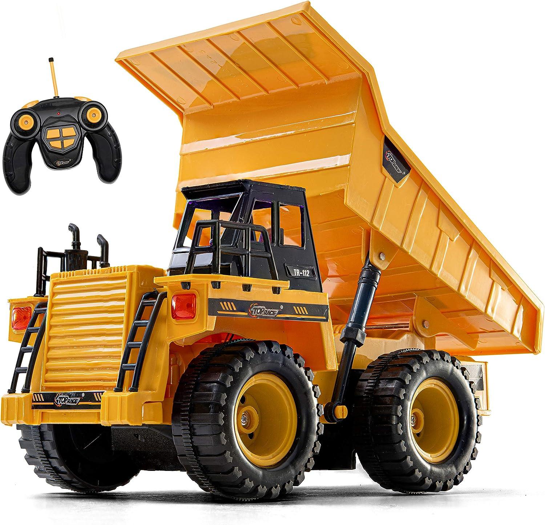 Top Race Remote Control Construction Dump Truck Toy