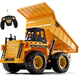 Top Race Remote Control Construction Dump Truck Toy, RC Dump Truck Toys, Construction Toys Vehicle, RC Truck Toys for 2…