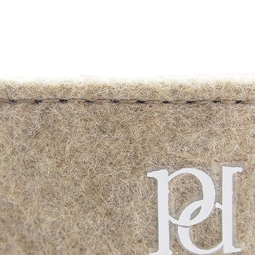 Hochwertiger Filzkorb mit verst/ärkten Seitenw/änden von perla pd design/® aus edlem camelfarbigen Filz L/änge 18cm H/öhe 10cm Breite 13cm + weitere Farben