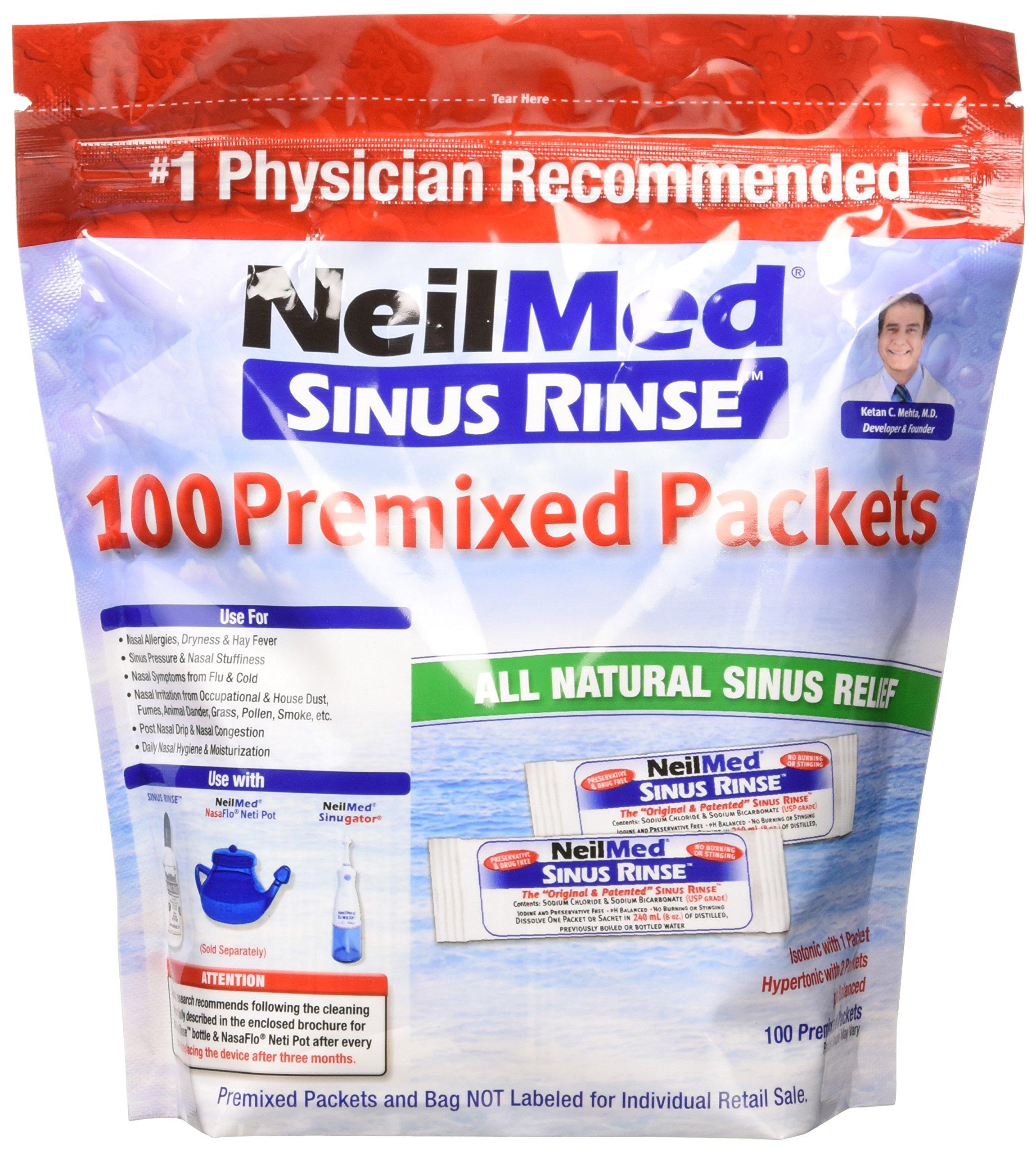 NeilMed Sinus Rinse Premixed Refill Packets 100 ct.