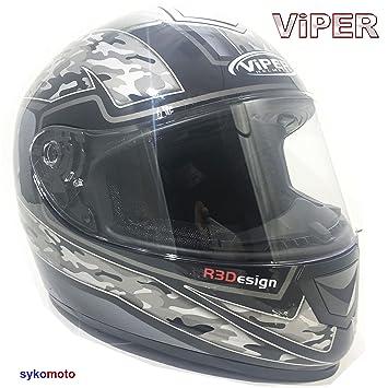 VIPER RS-250 INTEGRAL MOTO 4 ESTRELLAS CARRERAS CRASH CASCO HOMBRES Y MUJERES CAMO NEGRO