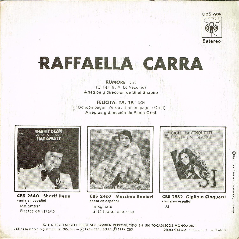Fatalita / Vinyl single : Raffaella Carrá: Amazon.es: Música