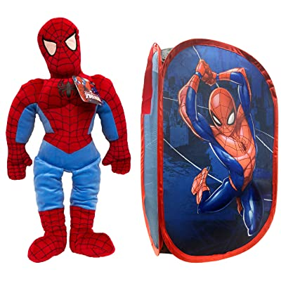 Jay Franco Marvel Spiderman Pillow Buddy and Pop Up Hamper Bundle: Home & Kitchen