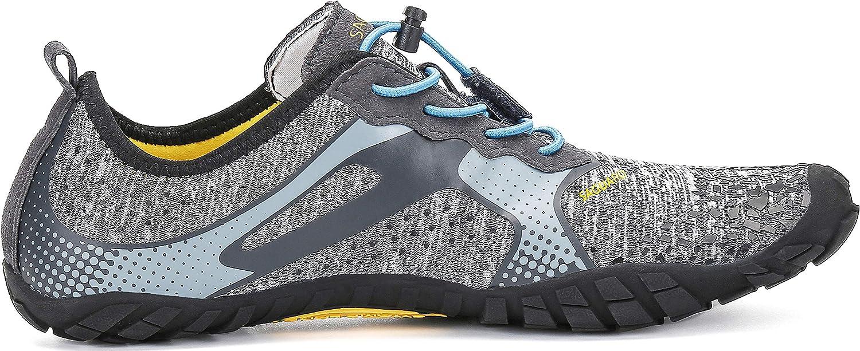 SAGUARO Unisex Minimalist Trail Running Barefoot Shoes Wide Toe Box Indoor /& Outdoor