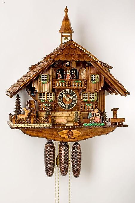 Alemán Reloj de cuco - estilo Chalet - mecanismo con cuerda para 8 días - 58
