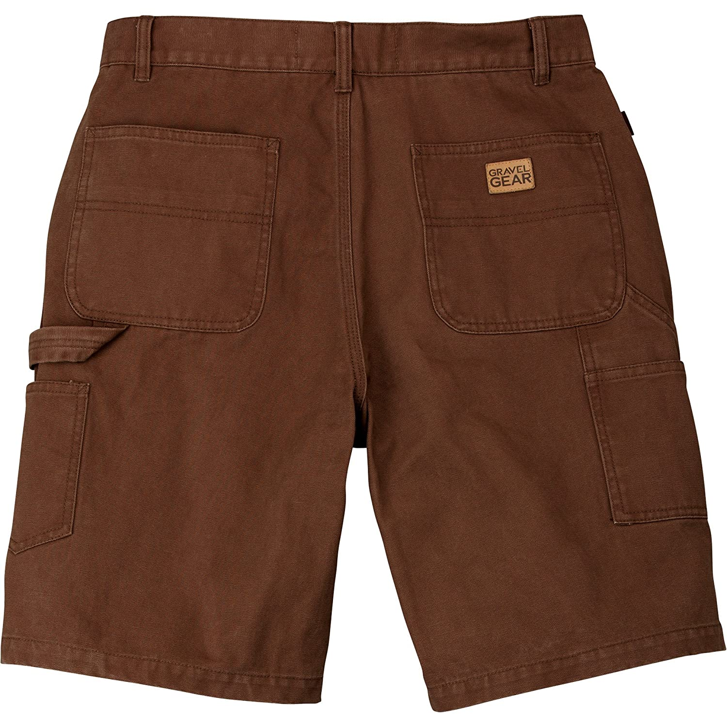 Gravel Gear SHORTS メンズ B016L33U0G 32W|Bark Brown Bark Brown 32W